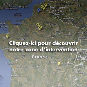 Gte-Entreprises, zone d'intervention